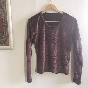 Vintage brown velvet top